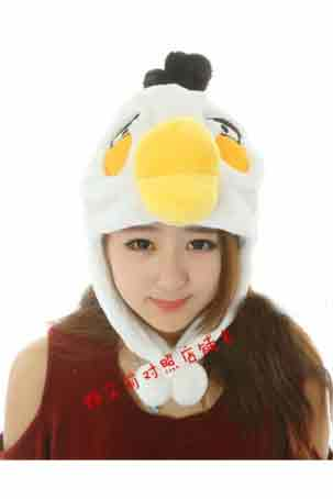 Angry Bird Hat  - White